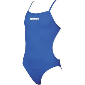 arena Solid Lighttech Costume Da Bagno Intero Ragazza, blu